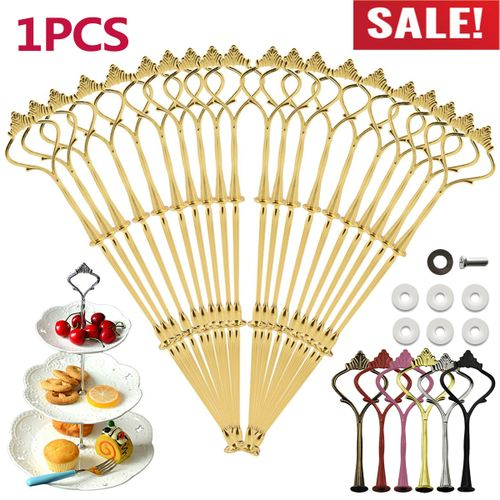 3 Tier Cupcake Plate Stand Handle Hardware Rod Wedding Party Decor