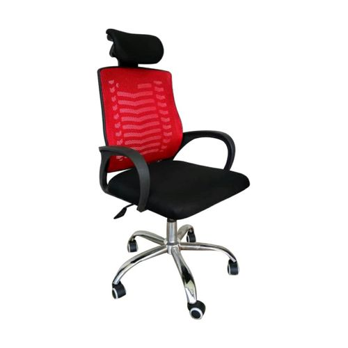 Executive Chair With Headrest - Red
