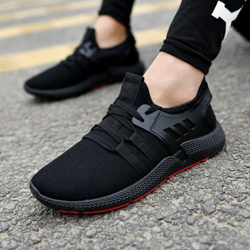 Mens Fashion Sneakers Comfortable Casual Shoes Black