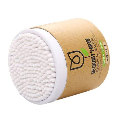 200Pcs Cotton Swabs Disposable Double Tips Paper Stick White