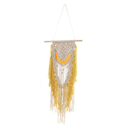 Tassel Bohemian Macrame Woven Wall Hanging Tapestry Art Home Knitting Decor