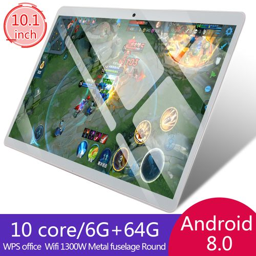 Tablet PC Android 8.1 10.1 Inch 6GB+64GB Screen Dual SIM Dual Camera Buletooth Call Phone Tablet