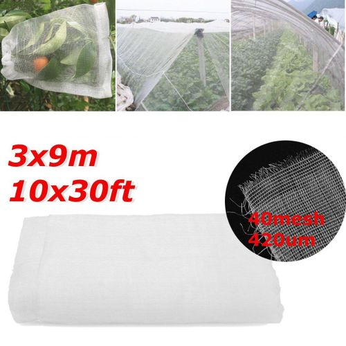 10Ft X 30Ft Mosquito Garden Bug Insect Netting Insect Barrier Bird Hunting Net