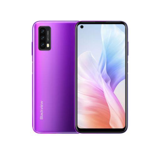 A90 4GB+64GB Side Fingerprint Identification 4280mAh 6.39 Inch Android 11.0 4G Smartphone-Purple