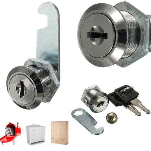Cam Lock For Home Office File Cabinet Mailbox Drawer Cupboard Showcase & 2 Keys