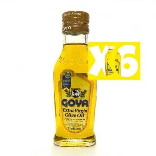 6 Goya Extra Virgin Olive Oil, 88. 7ml