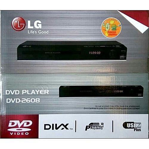 LG DVD PLAYER DV2608 LG DVD PLAYER DV2608 WITH USB BLACK