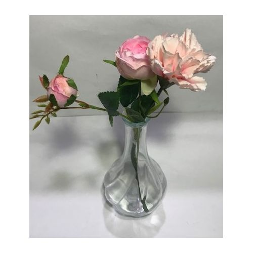 Crystal Glass Vase With Pretty Flower Arrangement
