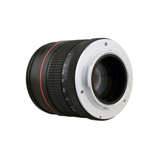 Portable Size Lightweight 85mm F1.8 Medium Telephoto Manual Focus Portrait Len Black