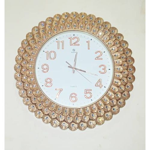 Large Decorative Wall Clock With Glittering Stones