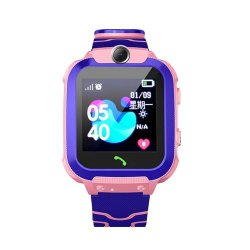 Q12B Life Waterproof Children Phone Mobile Smart Positioning Watch Pink