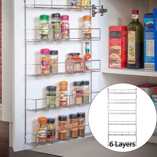 5PCS Kitchen Spice Rack Cabinet Organizer Wall Mount Storage Shelf Pantry Holder 385x60x700mm