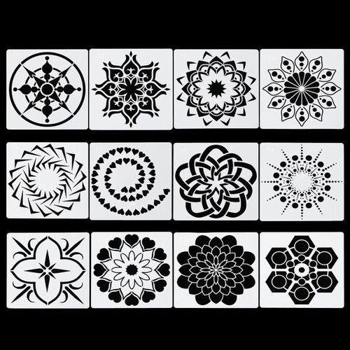 Mandala Painting Tool Pen Dotting Art Dot Stencil Template Brush Acrylic Rod Set