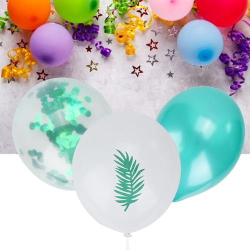 15 Pcs Multi Balloons Turtle Leaf Pineapple Latex Balloons For Hawaii Party Birthday Party Festival Decoration