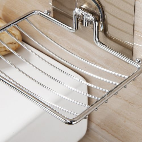 Stainless Strong Wall Soap Holder Dish Basket Tray Bathroom Shower Rack Shelf