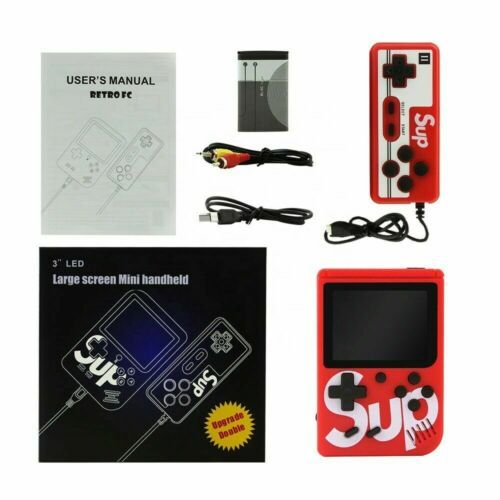 Sup 400 In 1 Game Box Retro Handheld With 400 Classic Game Box Pad 3'' Mini TV Console Controller