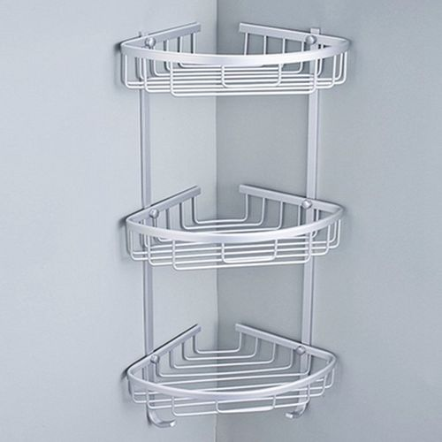 3 Layer Triangular Shower Bathroom Corner Bath Rack Wall Storage Shelf Basket