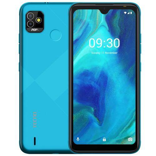 "POP 5 (BD2P) -6.1"" HD+ Display-2GB RAM/32GB ROM, 5000mAh, Android 10, 5MP/5MP Camera, Fingerprint & Face ID - ICE Blue"