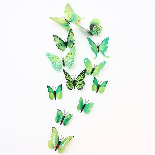 12pcs 3D Butterfly Wall Stickers Art Decal Home Room Decorations Mural Decor DIY