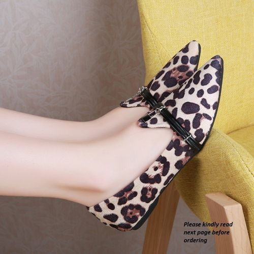 Classy And Sexy Light Leopard Skin Female Shoe