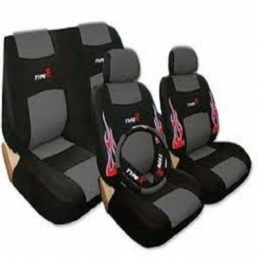 Car Seat Cover - Black And Grey