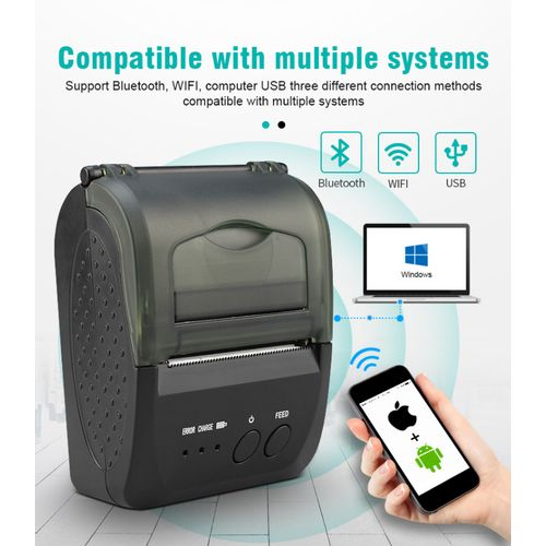 Portable Mini Direct Thermal Printer Wireless Thermal POS Receipt Printer