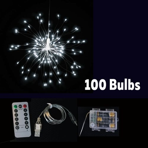 LED Firework Copper Wire Strip String Fairy Light Xmas Wedding Party Home Decor