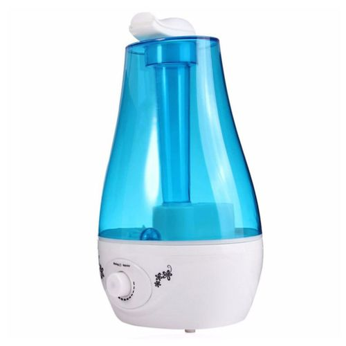OR Double Spray Humidifier Ultrasonic Mini Home Desktop Atomizer Air Purification Blue