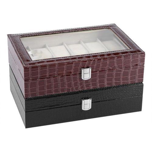 12 Soft Pillow Watch Box Jewelry Display Storage Organizer Box Case