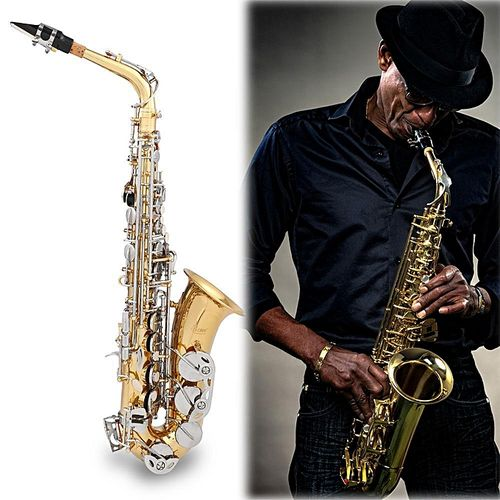 LADE Professional Eb Alto Sax Saxophone With Cork Grease Gloves Strap Instruments Parts