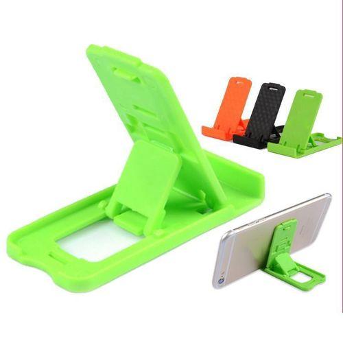 1Pc Adjustable Plastic Phone Holder Stand Desktop Foldable Mount Cell Phone Tablet Random Color