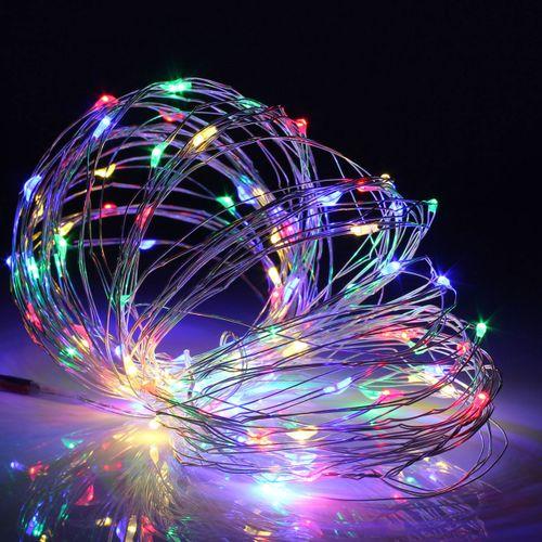 Solar 13M 120 LED Flexible Micro Silver Wire String Fairy Lights Xmas Wedding !