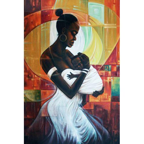 Strength Of Motherhood Oil On Canvas Art Painting Work