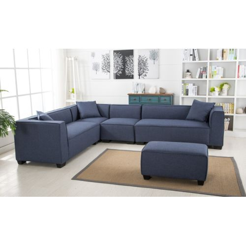 Designer Unit. Blue.Get OTTOMAN Free DELIVERY ONLY IN LAGOS