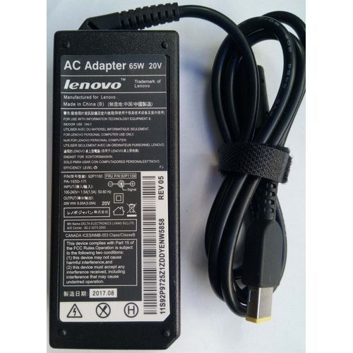 Lenovo AC Laptop Charger 65W 20V