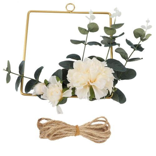 Artificial Silk Flowers Hanging Basket Home Wall Garden Decoration
