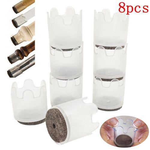8pcs Furniture Flexible Pad Floor Scratch Protectors Slider Leg Feet Cover Mat