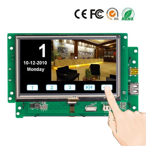 "5.0"" Smart TFT LCD Module With Touch Screen+Serial Port+Program"