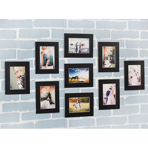 Modern Multi Photo Picture Clock Frame Love Family Friends Home Wall Mount