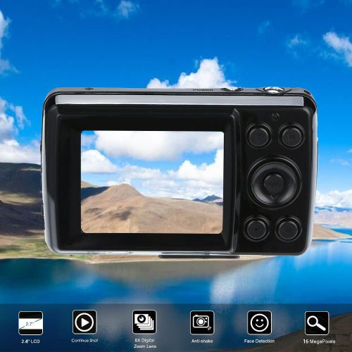 2.4HD Screen Digital Camera 16MP Anti-Shake Face Detection Camcorder Blank