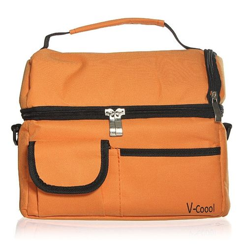 Travel BBQ Camping Picnic Lunch Insulated Cooler Cool Ice Bag Food Drink Carrier Orange