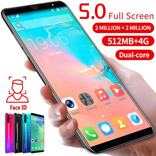 New Android 5.0 Inch Smartphone Face Recognition 512M+4GB Dual Card