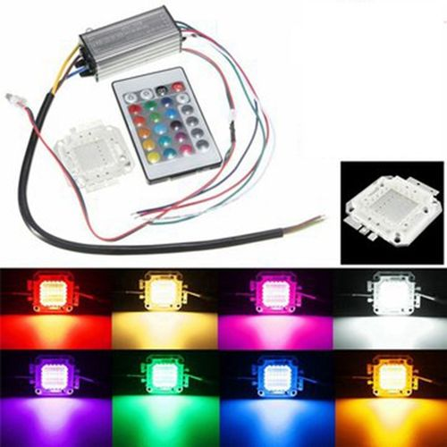 23W RGB LED Chip Light Waterproof LED Driver Power Supply Remote
