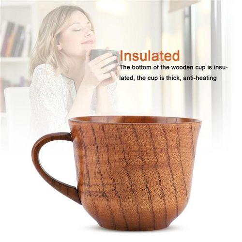 Wooden Cup Handmade Natural Wood Coffee Tea Juice Milk Mug