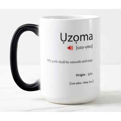 Color Changing Magic Name Mug- Uzoma