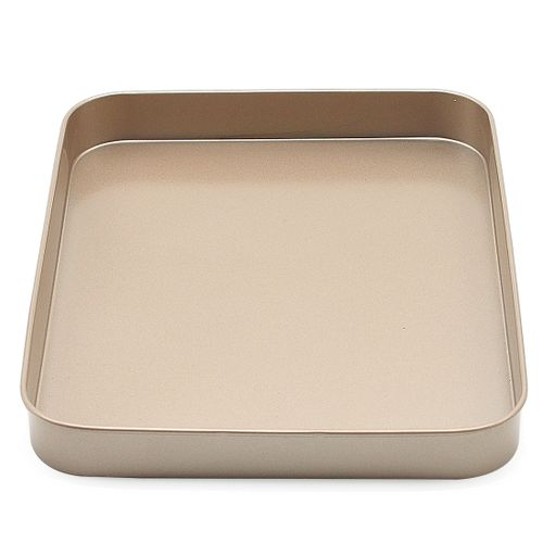 10-inch Metal Rectangle Baking Mold Non Stick Pizza Pie Pastry Dessert Baking Mold Pan 1021 Gold