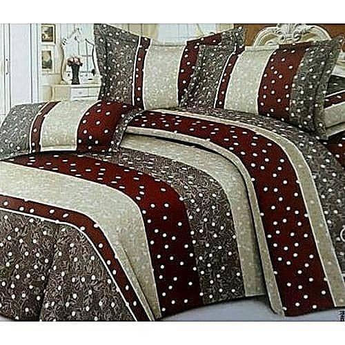 Brown Duvet,Bedsheet With Four Pillow Cases Set