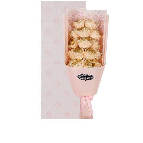 Rose Artificail Flower Eternal Love Gift - Yellow