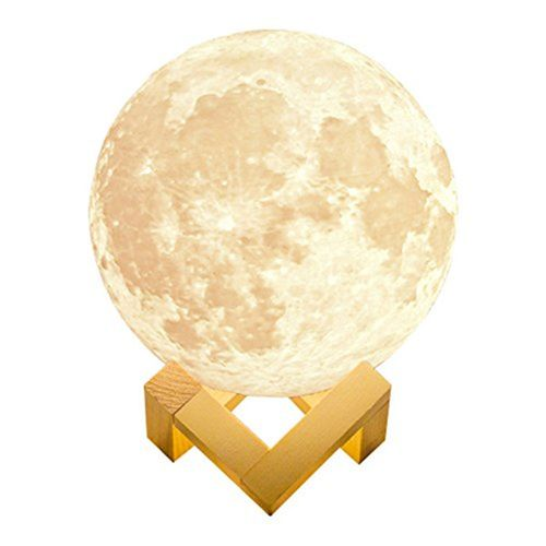 15cm 3D Magical Two Tone Moon Lamp Decorative Moon Balls USB Charging LED Night Ornament Sensor Velantine Gift Crafts Home Decor