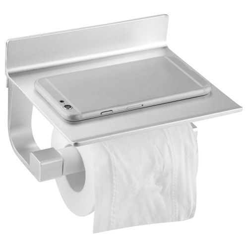 Aluminium Alloy Bathroom Roll Paper Holder Paper Towel Storage Rack Hanger Bathroom Paper Holder With Shelf